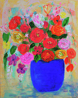 Painting - Lightness Of Spring Flowers by Haleh Mahbod