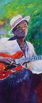 Jazz Legends Wall Art - Painting - Lightnin Hopkins 3 by Yuriy Shevchuk