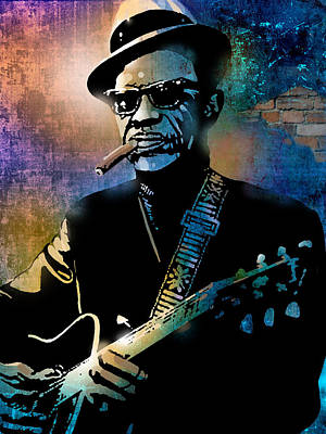 Painting - Lightnin Hopkins by Paul Sachtleben