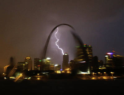 Photograph - Lightning And Thunder Over St Louis by Garry McMichael