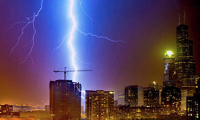 Photograph - Lightning At Chicago by Patrice Bilesimo