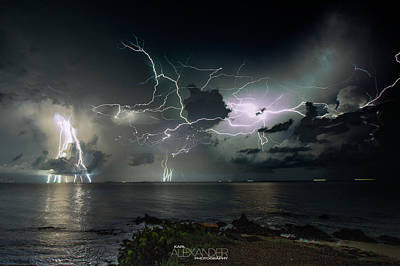 Photograph - Lightning At The Bermuda Triangle by Karl Alexander
