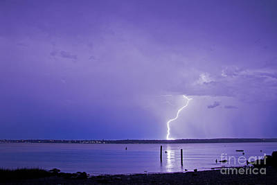 Photograph - Lightning At The Narrows by Butch Lombardi