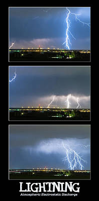 Photograph - Lightning - Atmospheric Electrostatic Discharge by James BO Insogna