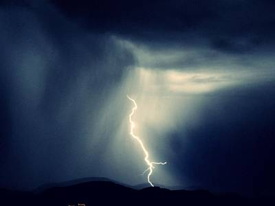 Photograph - Lightning Blue by Dietmar Scherf