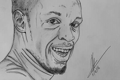 Usain Bolt Drawing - Lightning Bolt  by Collin A Clarke