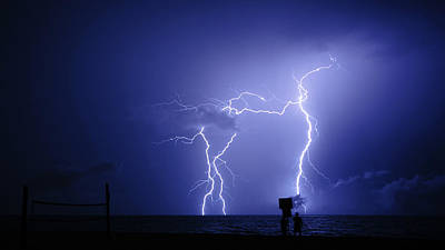 Photograph - Lightning Bolt Dancers Delray Beach Florida by Lawrence S Richardson Jr