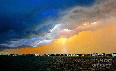 Thunder Painting - Lightning Bolt by David Lee Thompson