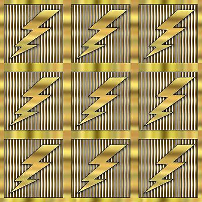 Digital Art - Lightning Bolt Group - Transparent by Chuck Staley