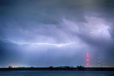Lightning Bolting Across The Sky Art Print by James BO  Insogna