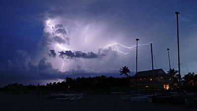 Photograph - Beach Lightning Delray Beach Florida by Lawrence S Richardson Jr