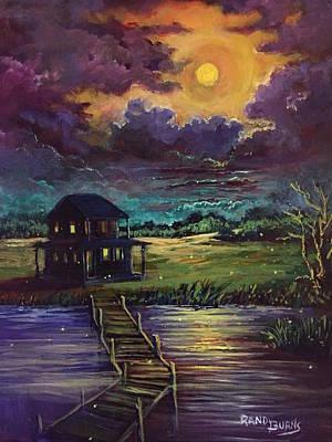 Painting - Lightning Bugs by Randy Burns