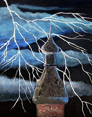 Painting - Lightning Capital by Patricia Beebe