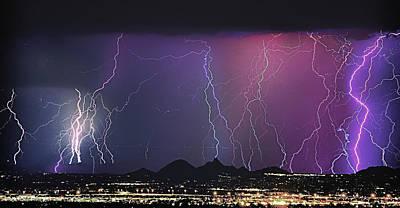Lightning City Print by James BO  Insogna