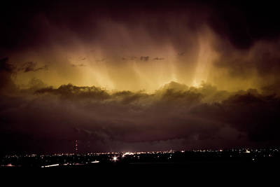 Lightning Cloud Burst Boulder County Colorado Im29 Print by James BO  Insogna