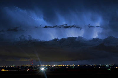 Unusual Lightning Photograph - Lightning Cloud Burst by James BO  Insogna