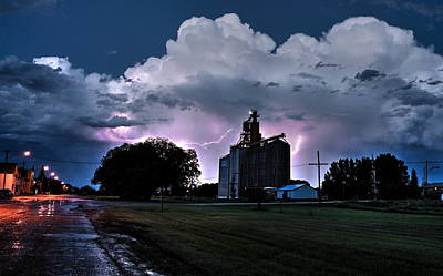 Photograph - Lightning by David Matthews