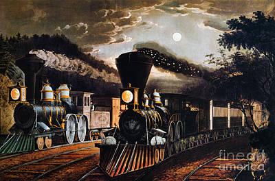Photograph - Lightning Express, 1864 by Granger