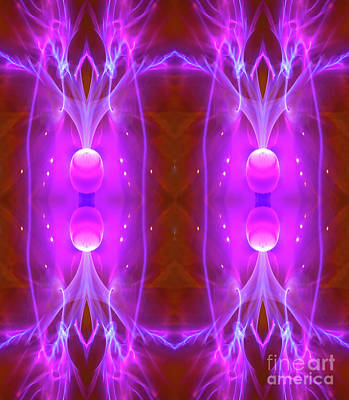 Photograph - Lightning Generator - Triptych-2 by Paul W Faust - Impressions of Light