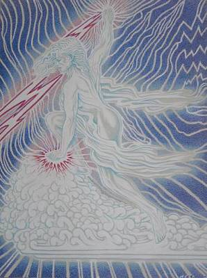 Painting - Lightning Goddess by Jacki Randall