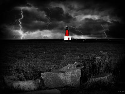 Photograph - Lightning House by Ms Judi