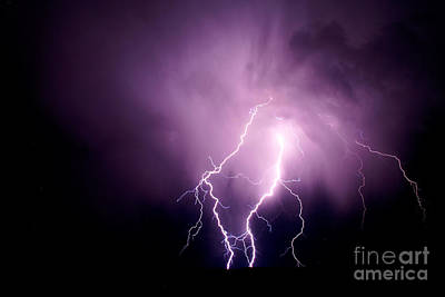 Photograph - Lightning In The Desert by Jeffrey Worthington