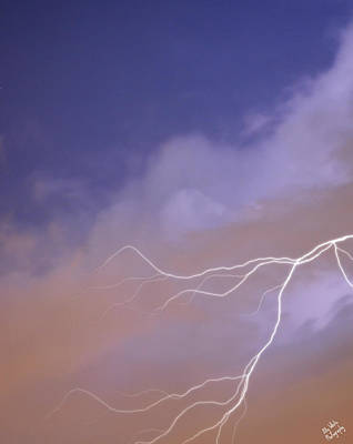 Photograph - Lightning In The Sky by Ally White