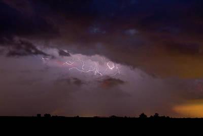 Lightning In The Sky Art Print