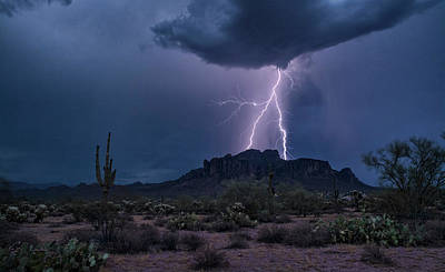 Photograph - Lightning In The Superstition Wilderness  by Saija Lehtonen