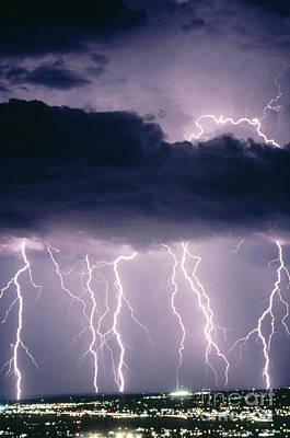 Photograph - Lightning by John A Ey III