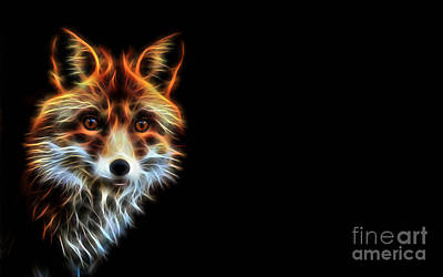 Red Fox Mixed Media - Lightning by Marvin Blaine