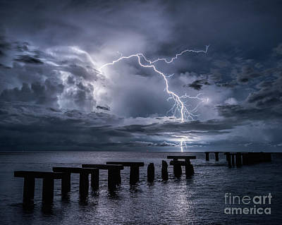 Photograph - Lightning Off The Coast Of Boca Grande by Damon Powers
