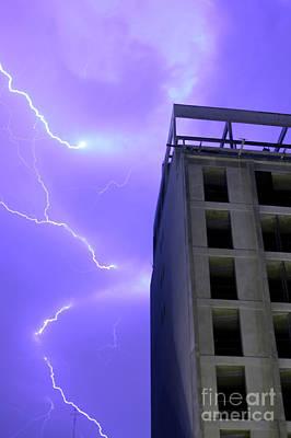 Lightning On Rivadavia 2 Art Print