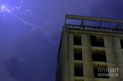 Photograph - Lightning On Rivadavia 3 by Balanced Art