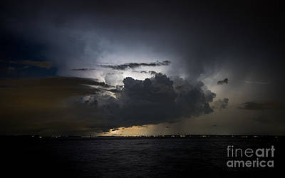 Lightning Photograph - Lightning On The St. Johns by Jeff Turpin