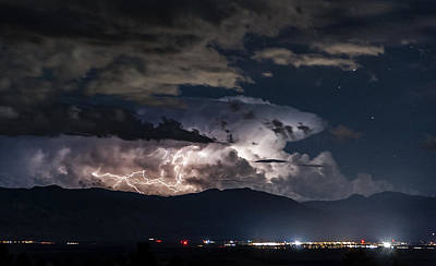 Photograph - Lightning Over Bishop, Ca by Cat Connor