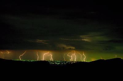 Sky Scape Photograph - Lightning Over Denver by Jerry McElroy
