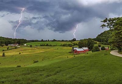 Photograph - Lightning Over Jenne Farm by John Vose
