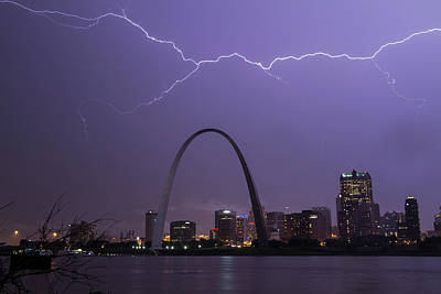Photograph - Lightning Over St Louis by Garry McMichael