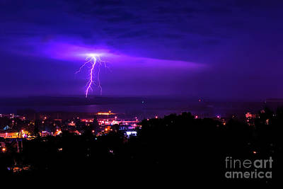James Brown Photograph - Lightning Over Superior by James Brown