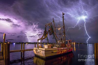 Cj Photograph - Lightning Over The Horizon by Jon Neidert