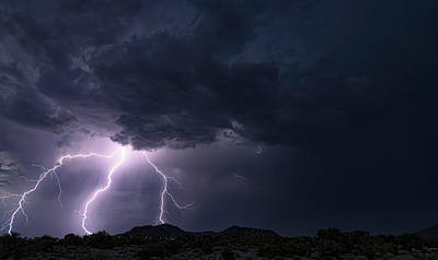 Photograph - Lightning Pitchfork  by Saija Lehtonen