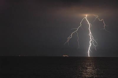 Photograph - Lightning by Rafael Figueroa