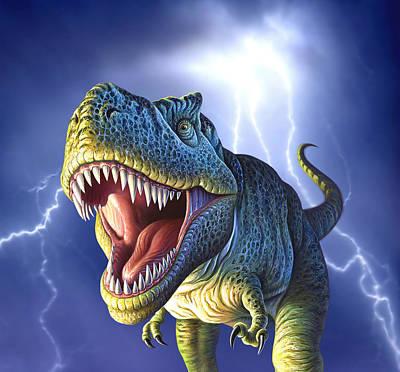 Largemouth Bass Digital Art - Lightning Rex by Jerry LoFaro