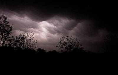 Photograph - Lightning Show Over Blue Eye by Gwen Vann-Horn