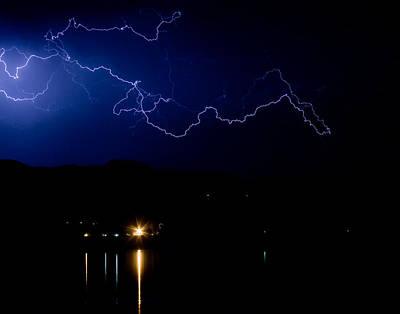 Lightning Photograph - Lightning Skyscape Fine Art Photo by James BO  Insogna