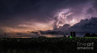 Photograph - Lightning Storm 6-10-18 by Willard Sharp