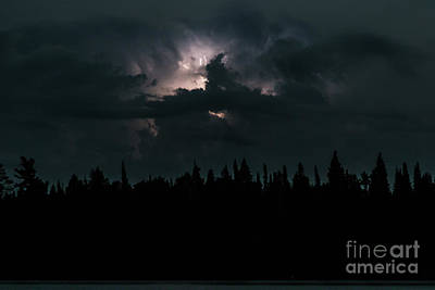 Photograph - Lightning Storm by CJ Benson