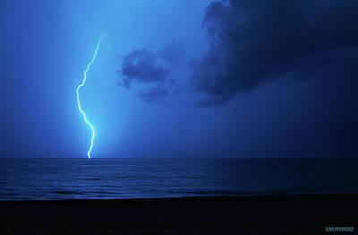 Keys Photograph - Lightning Storm In Delray Beach Florida 2 by Ken Figurski
