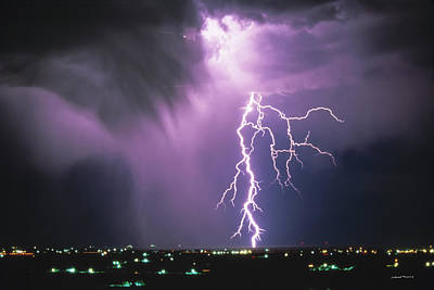 Lightning Photograph - Lightning Storm by Leland D Howard